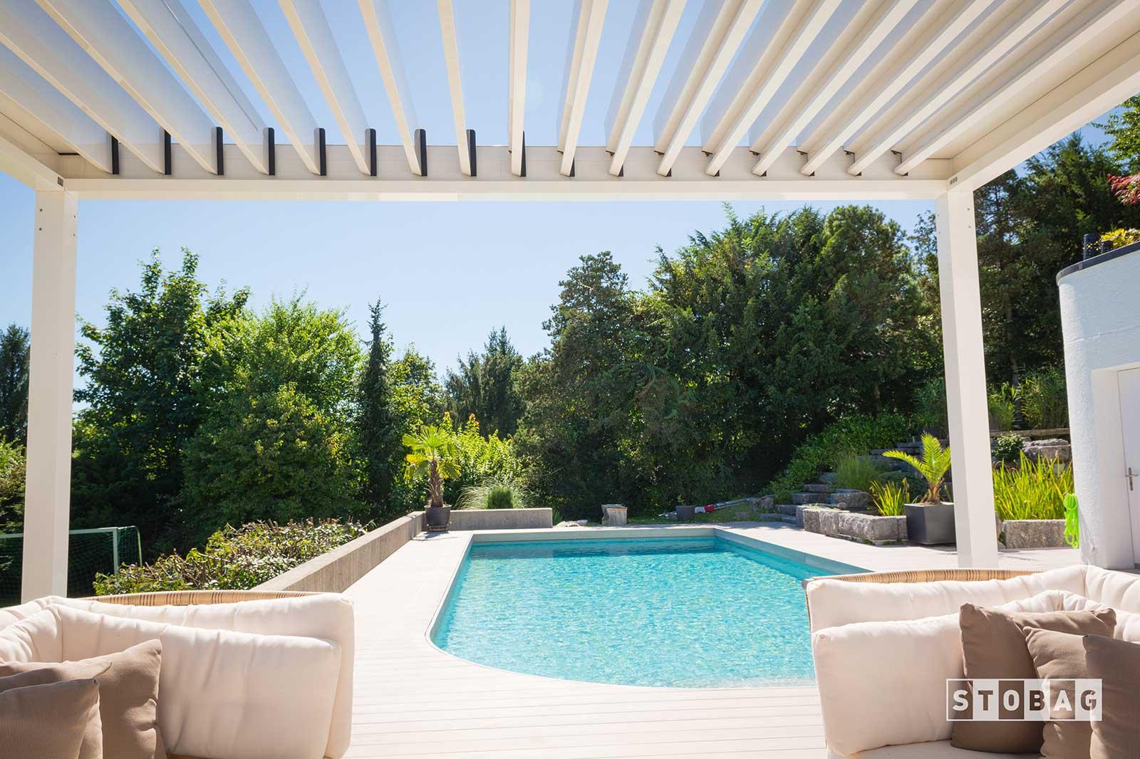 Aménagement terrasse piscine Yverdon Vaud
